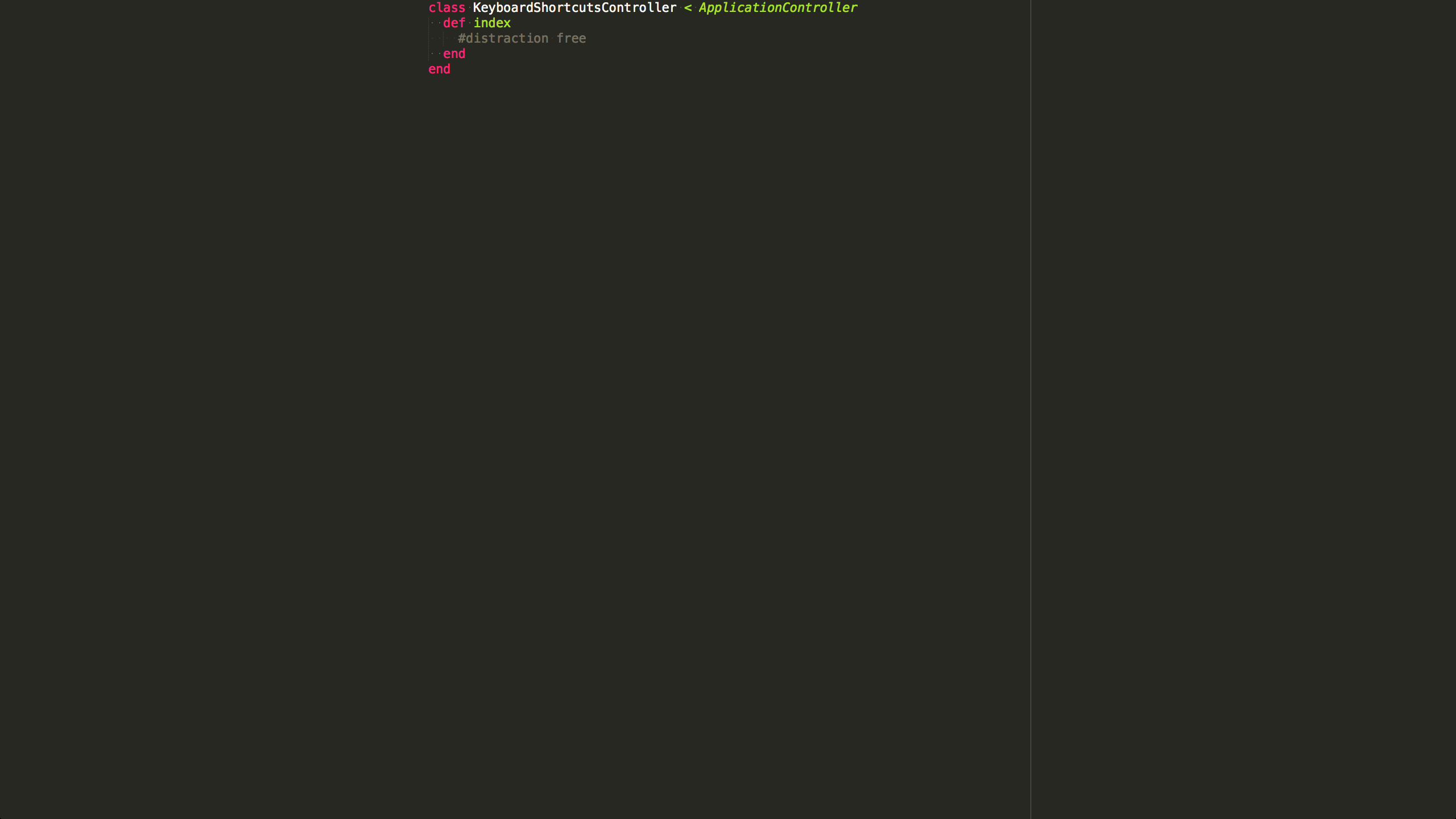 Hide everything but your code in Sublime Text 3 using Distraction Free Mode