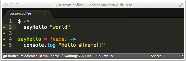 Sublime Text 3 Better CoffeeScript