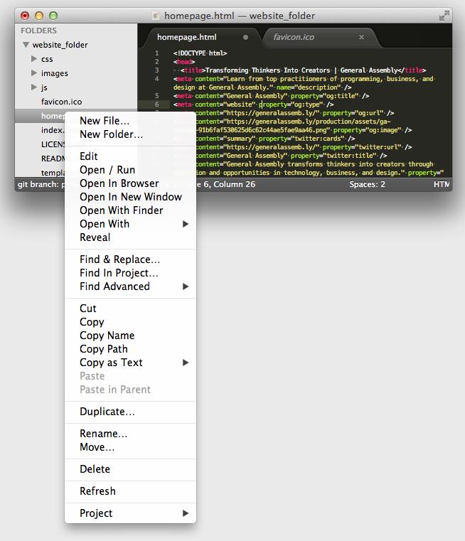Sublime Text 3 Sidebar Enhancement