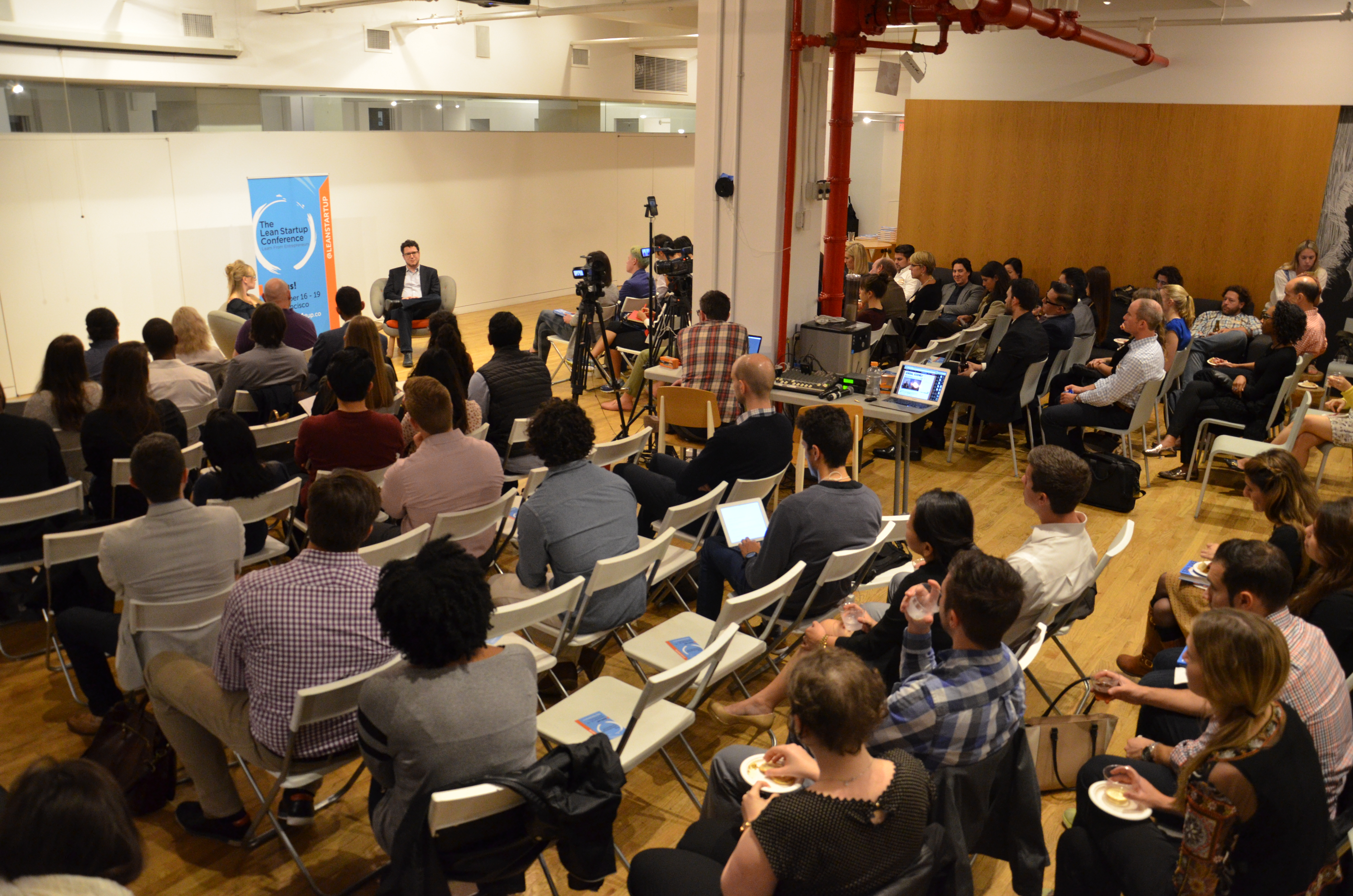 Image of Crowd at Eric Ries Event at General Assembly