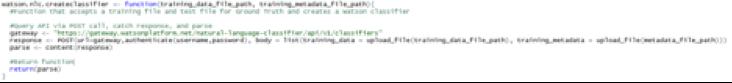 API Build A Watson Application